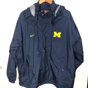 Nike university of Michigan men's Rain jacket